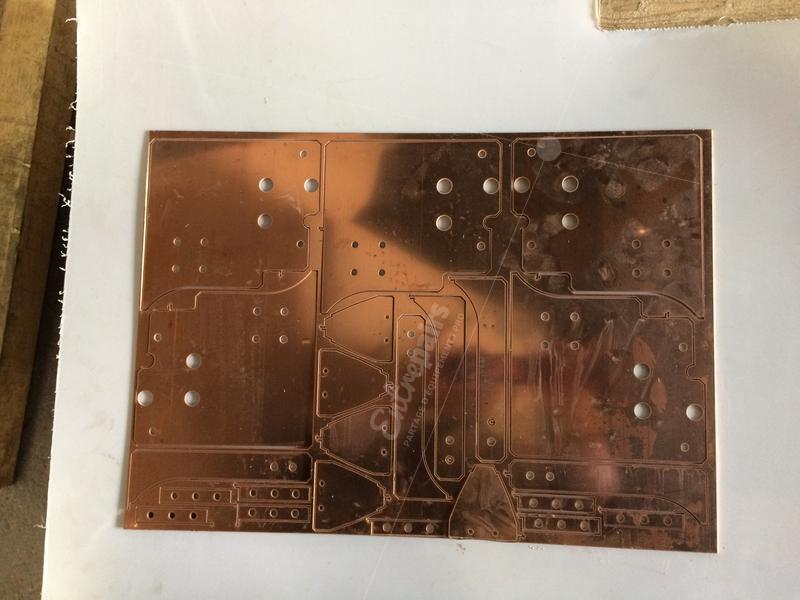 exemple de découpe de bronze à la jet d'eau