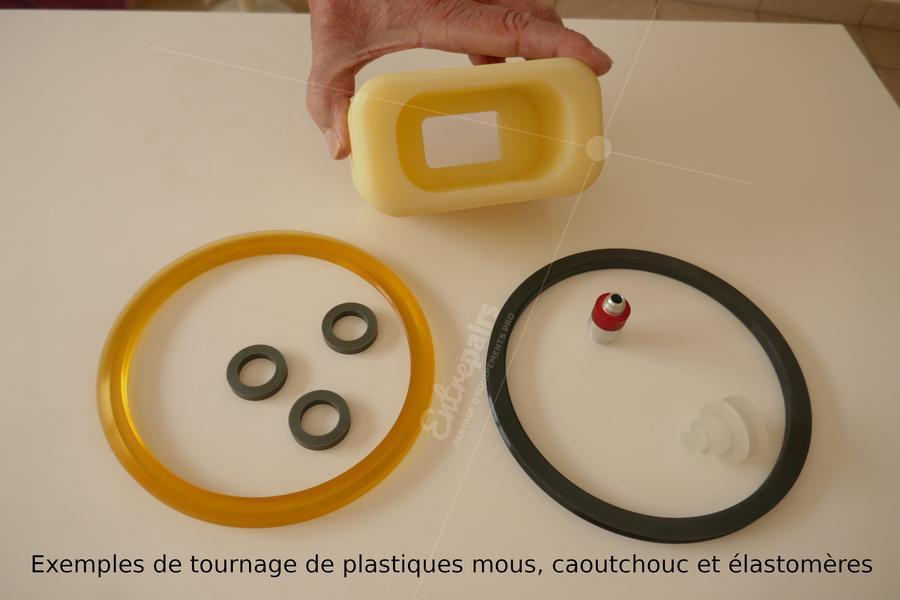 Exemples de pièces tournées en caoutchouc et élastomères